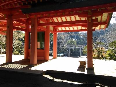 香取神宮 総門より三の鳥居を眺める