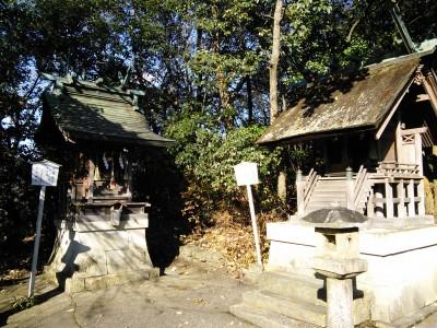 天満神社(左)と恵美須神社(右)
