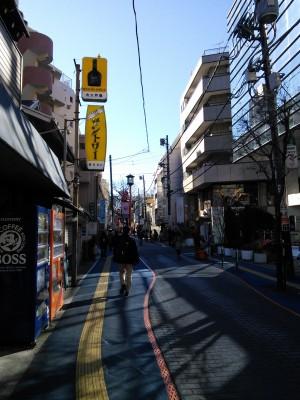 氷川神社への道