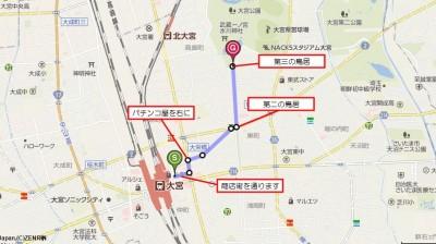 大宮駅から氷川神社へ