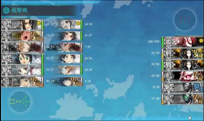 3戦目 2隻同時大破撤退