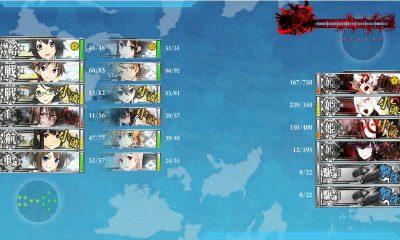 洋上補給の効果か昼戦で大破は1隻