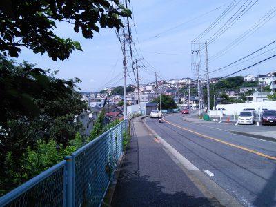 高台から久里浜方面を撮影