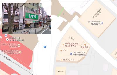 横須賀中央駅周辺地図