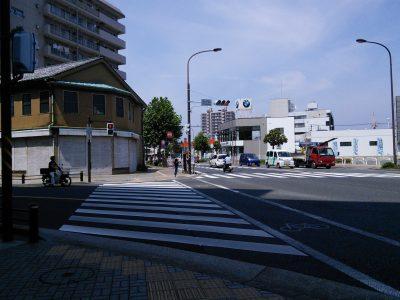 米が浜交差点を左に