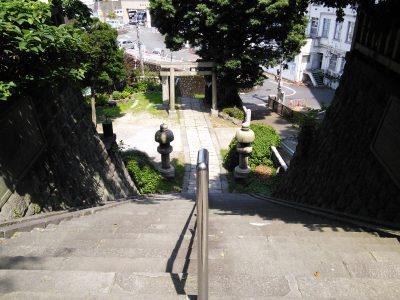 階段上からの景色