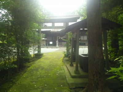 足柄神社 鳥居と手水舎