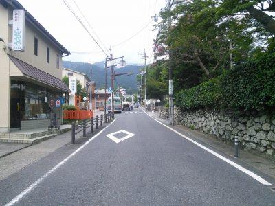 日吉大社への道のり